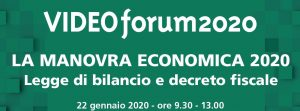 Video forum 2020 - La manovra economica